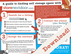 Storenextdoor - guide to finding storage space
