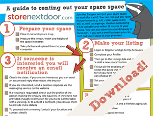 Storenextdoor - guide to renting out your storage space